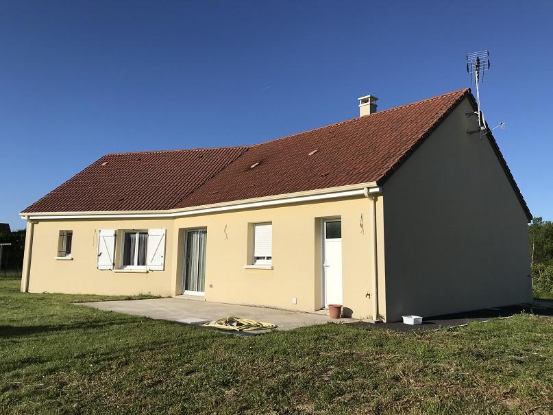 Pavillon de plain-pied, 3 chambres, garage et terrain